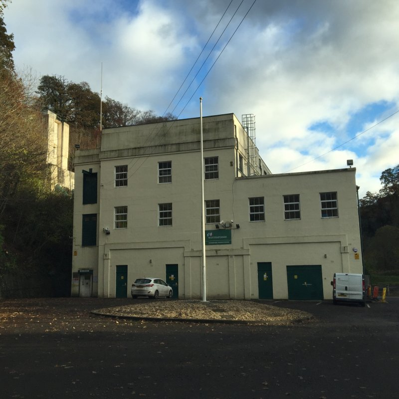 View of power staion building, taken from the north-west.