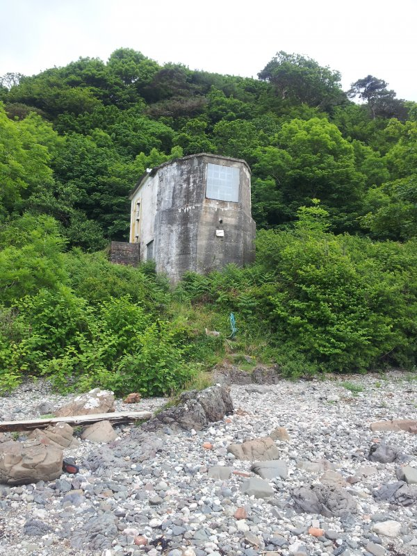 General view from shore of searchlight emplacement
