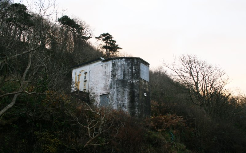 Southernmost searchlight emplacement. View from west.