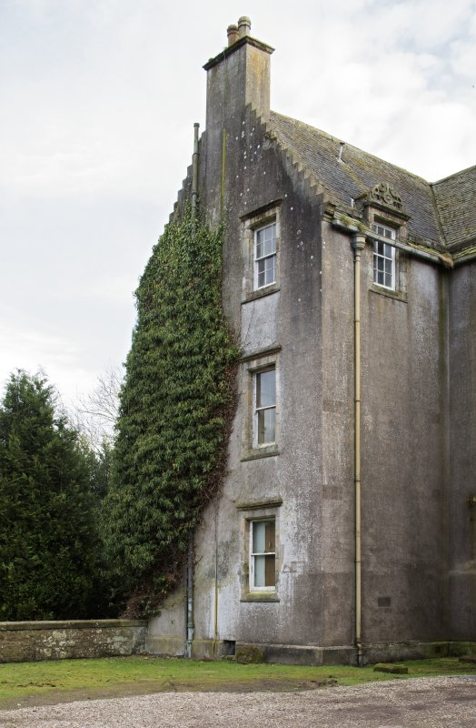 North front, east gable, view from north west