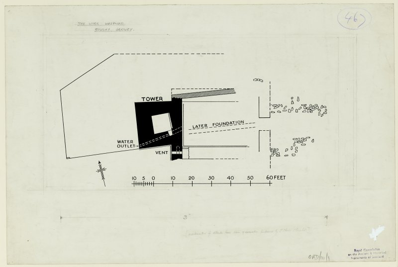 Publication drawing; plan supplemented with details from excavation by J Storer Clouston