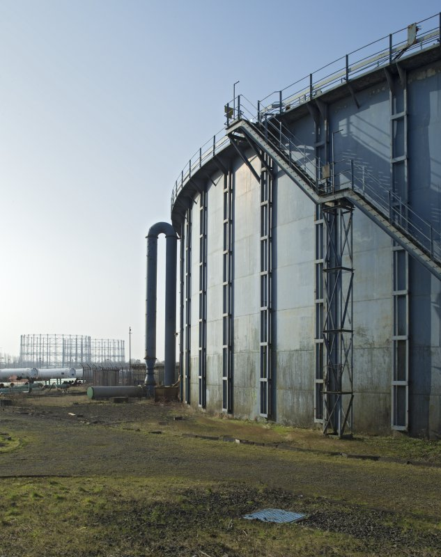 Gasholder no.3, view from north east with gasholders nos.1&2 in background