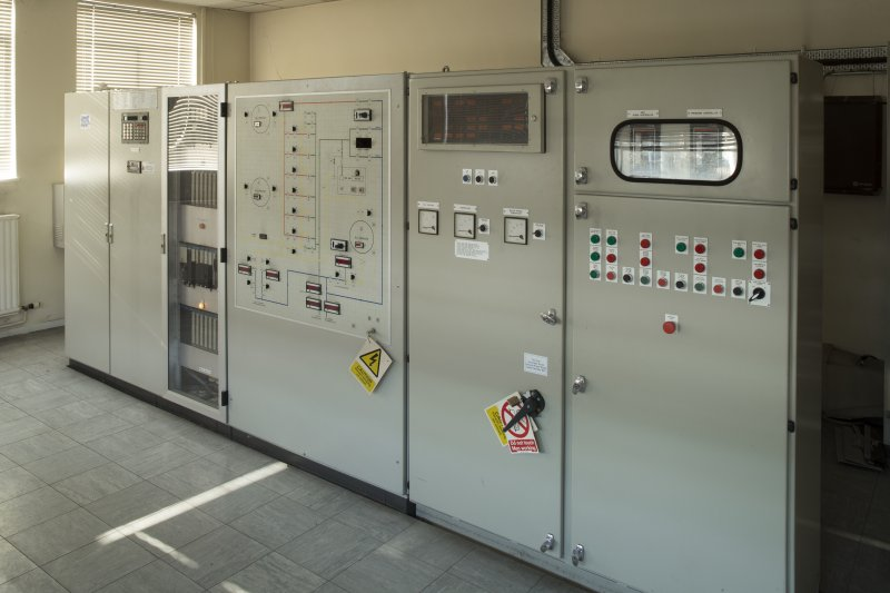 Gas distribution building, view of control panel