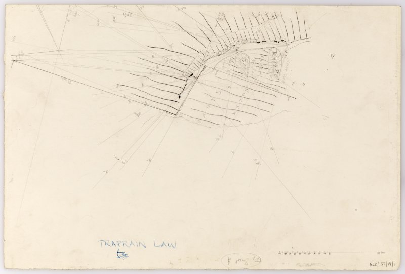 Plane-table survey: Traprain Law (fort). Sheet 1