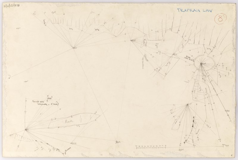 Plane-table survey: Traprain Law (fort). Sheet 13