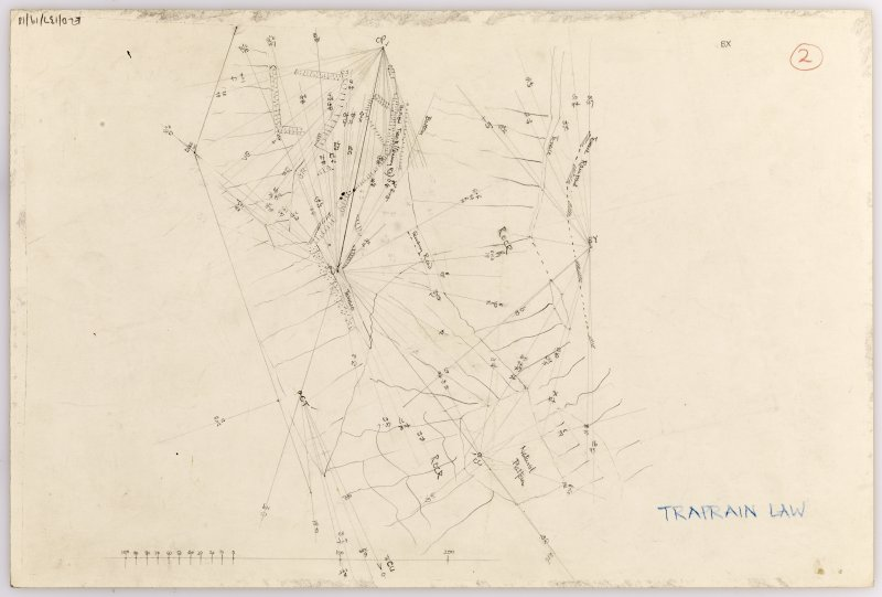 Plane-table survey: Traprain Law (fort). Sheet 2