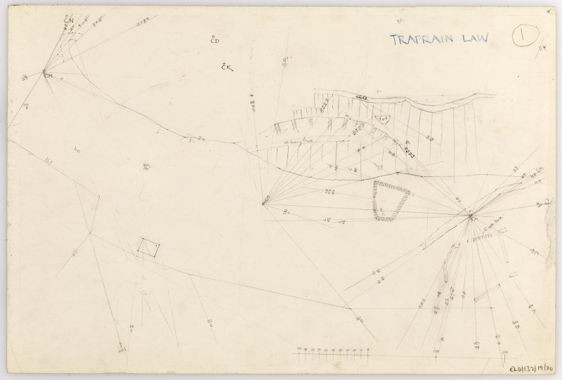 Plane-table survey: Traprain Law (fort). Sheet 20