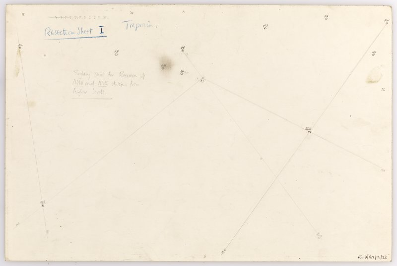 Plane-table survey: Traprain Law (fort). Resection Sheet 1