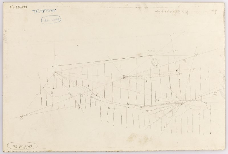 Plane-table survey: Traprain Law (fort). Amendment to Sheet 9