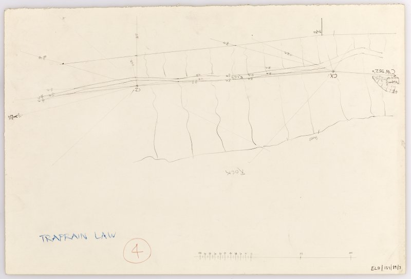 Plane-table survey: Traprain Law (fort). Sheet 7