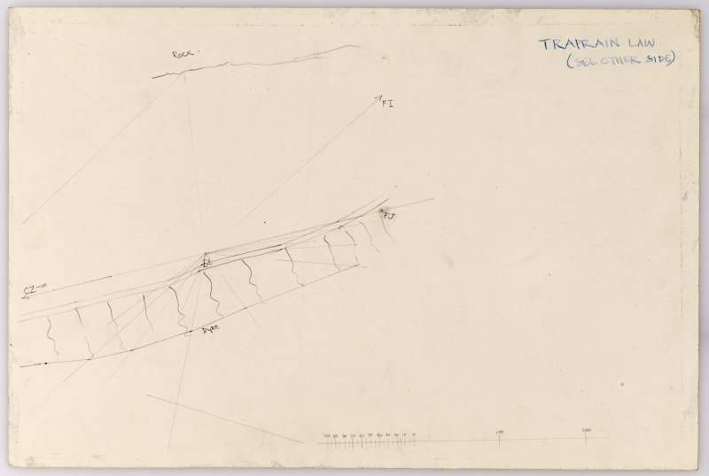 Plane-table survey: Traprain Law (fort). Sheet 14B