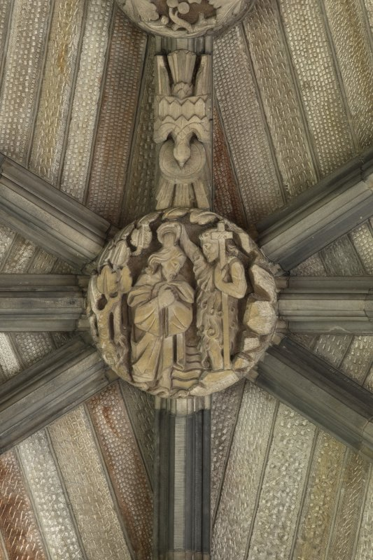 Choir, ceiling, detail of boss