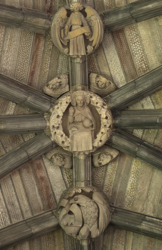 Choir ceiling, detail of carved bosses