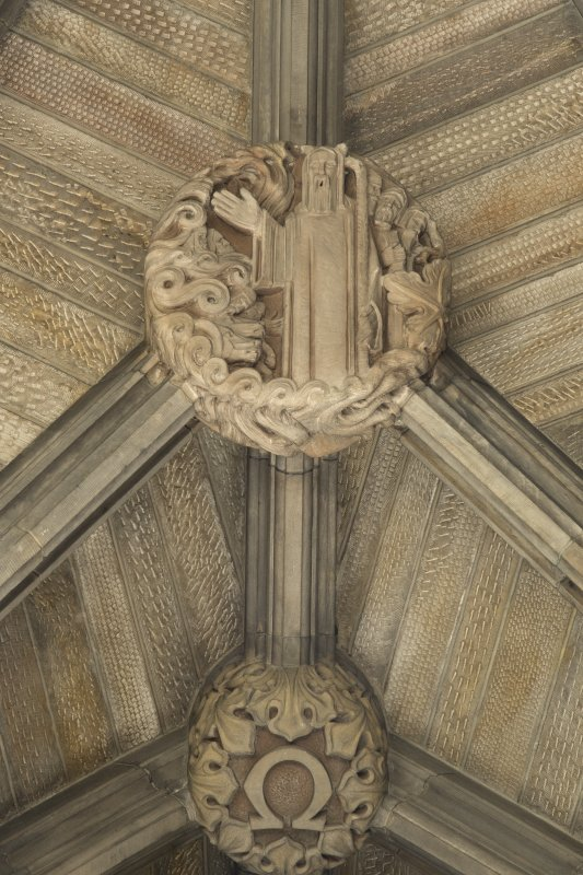 Choir, ceiling, detail of carved boss