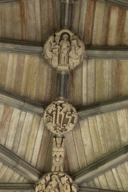 Choir, ceiling, detail of carved bosses