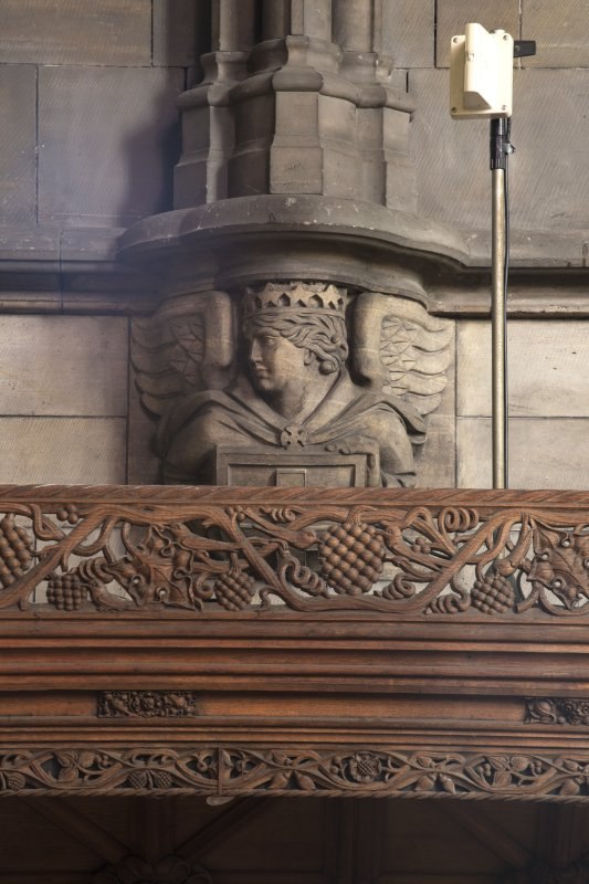 Choir, detail of corbel