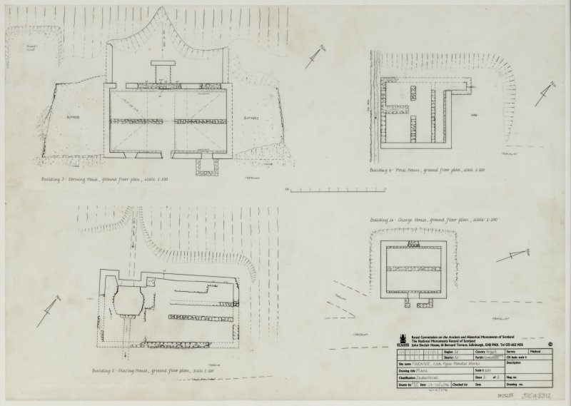 Plans Insc: Furnace, Loch Fyne Powder Works, plans. Sheet 2 of 3.