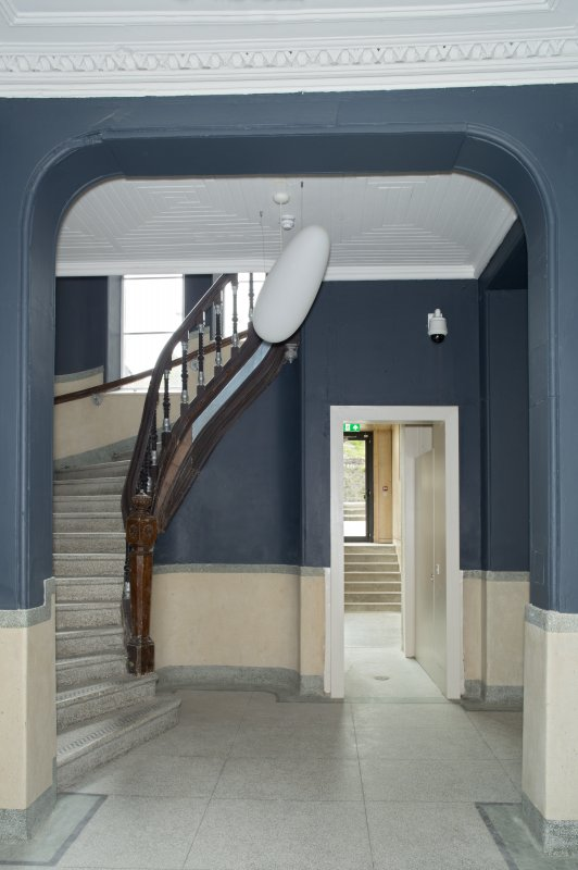 Ground floor, entrance hall, view from east