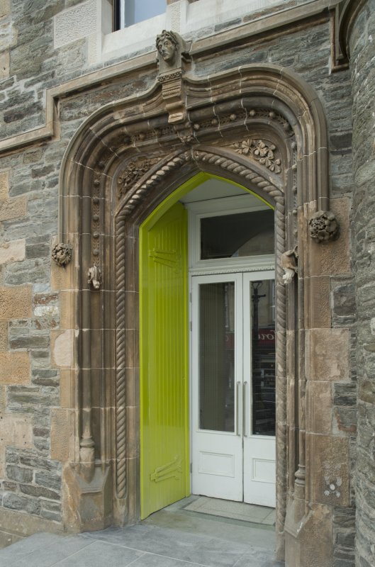 Main entrance doorway, view from north (door open)