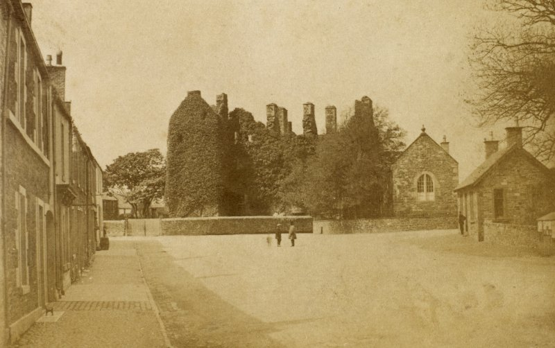 View from St Cuthbert Street from east. Titled 'Kirkcudbright Castle'. PHOTOGRAPH ALBUM No 25: MR DOG ALBUM