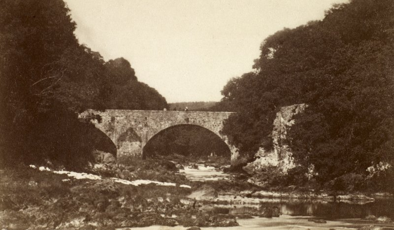 General view. Titled 'Old bridge (Tongueland).' PHOTOGRAPH ALBUM No 25: MR DOG ALBUM