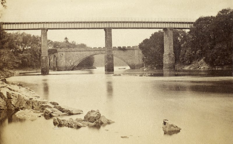 General view of two bridges  at Tongueland. PHOTOGRAPH ALBUM No.25: MR DOG ALBUM.