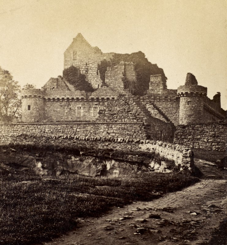 View from east of Craigmillar Castle. Titled 'Craigmillar Castle'. PHOTOGRAPH ALBUM NO.25: MR DOG ALBUM