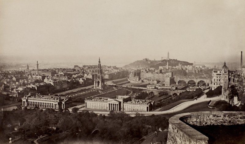 View from Edinburgh Castle, looking towards Calton Hill. PHOTOGRAPH ALBUM No.25: MR DOG ALBUM.