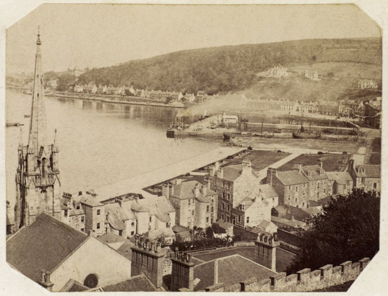 General view of Rothesay harbour, Bute. PHOTOGRAPH ALBUM No.25: Mr Dog Album.