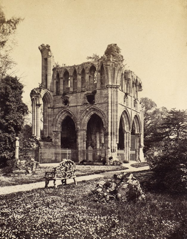 View of Dryburgh Abbey. PHOTOGRAPH ALBUM No 25: MR DOG ALBUM