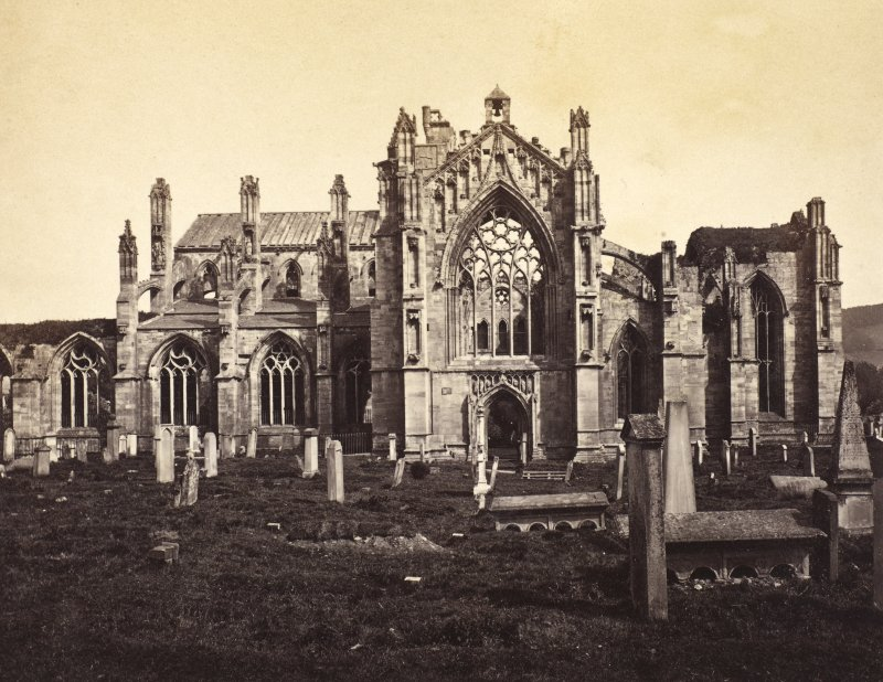 General view of Melrose Abbey. PHOTOGRAPH ALBUM No 25: MR DOG ALBUM