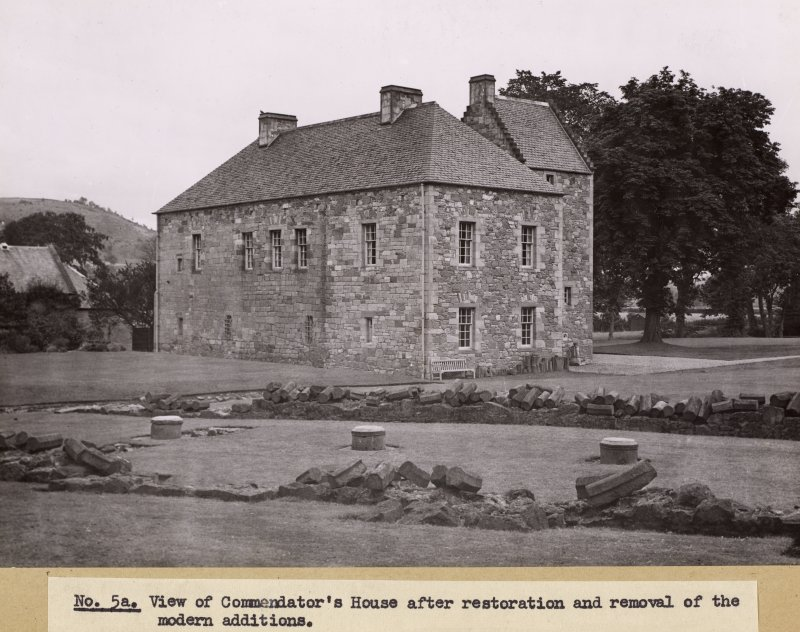 View of Commendator's House, Melrose Abbey, after restoration and removal of modern additions.