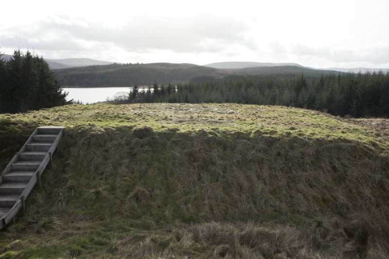 Ditch to east of castle, view from north east
