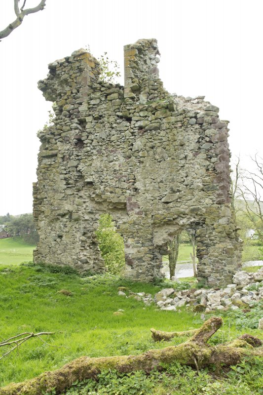 Inside of south west wall of castle, view from north