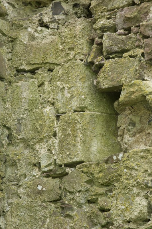 South east range, detail of stones with chamfer on inside of south west wall