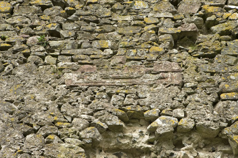 South west wall, detail of sill in central section of outside of wall