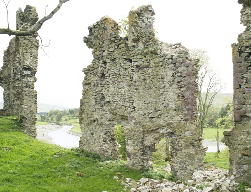 South west wall, view from north