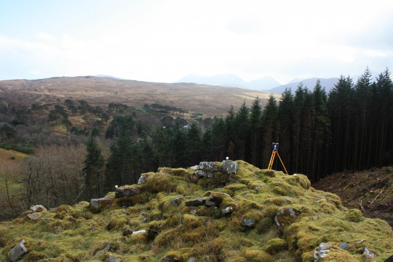 View of Dun Borrodale during archaeological survey