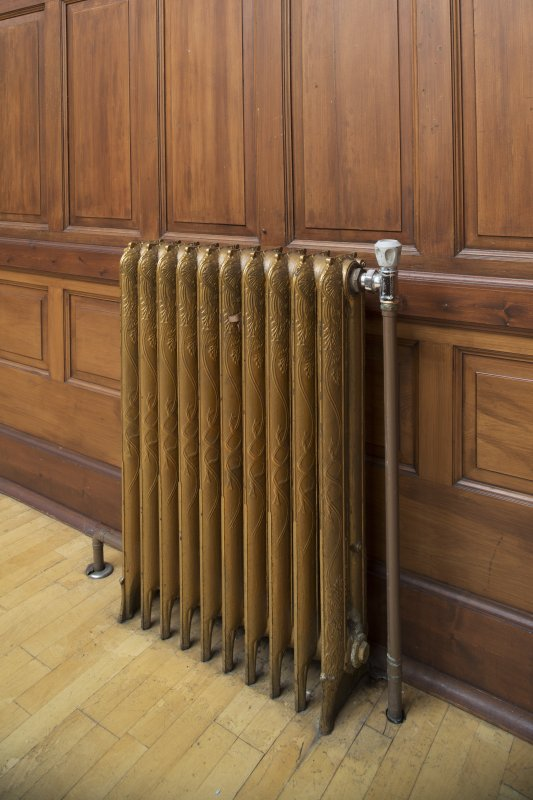 Ground floor. Collectors hall. Detail of radiator.