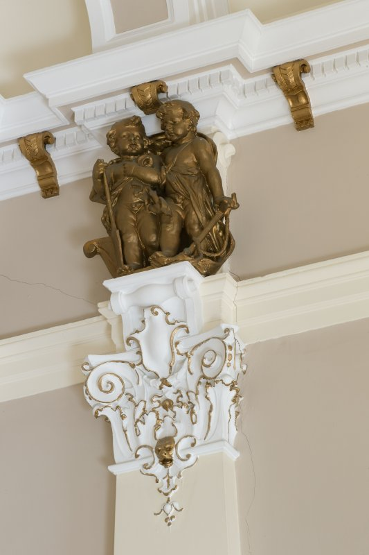 Third floor. Board room. Detail of cherubs.