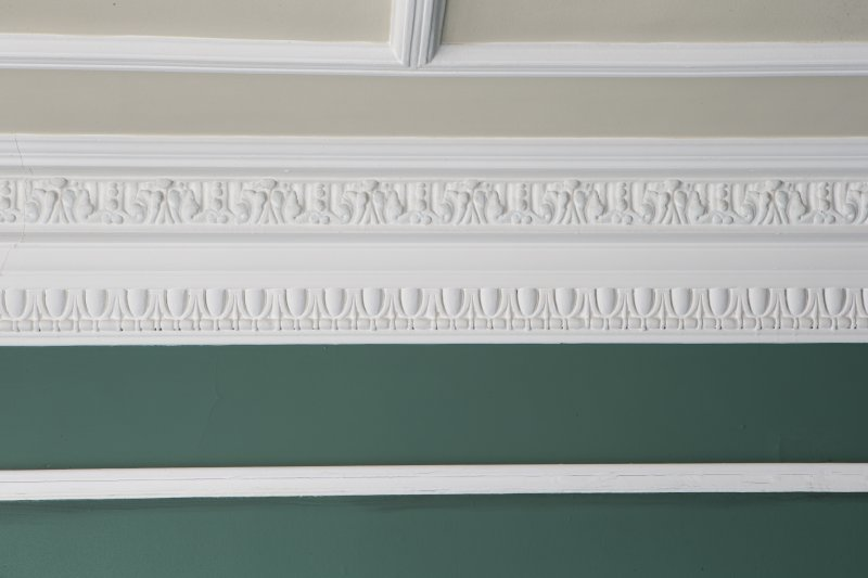 Third floor. West ante room. Detail of cornice.