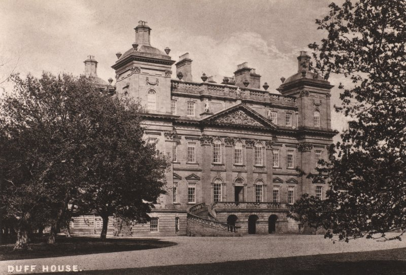 Duff House. General view of front of building. Titled 'Duff House'. PHOTOGRAPH ALBUM NO: 11 : KIRSTY'S BANFF ALBUM
