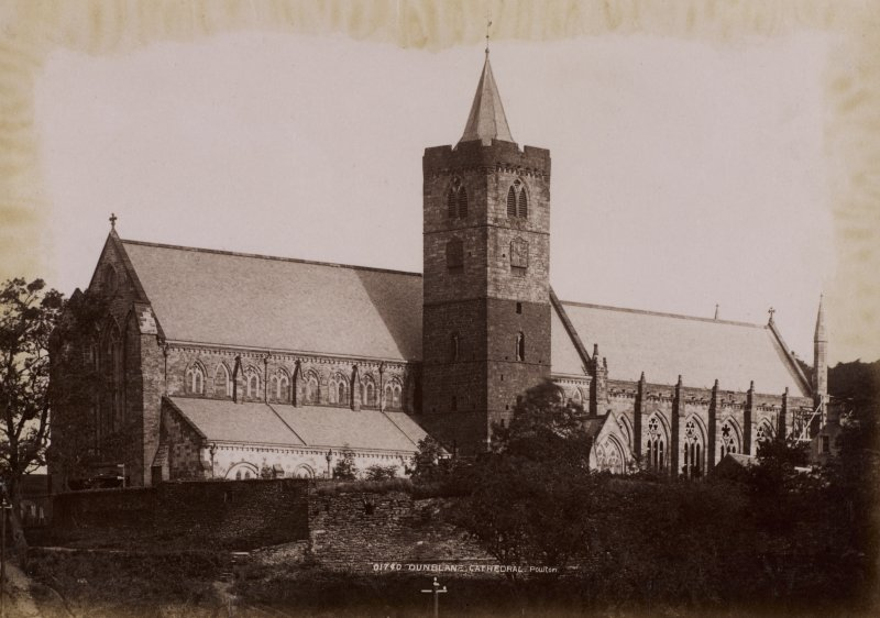 General view, Dunblane Cathedral. Titled: '01740 Dunblane Cathedral. Poulton' PHOTOGRAPH ALBUM NO 11: KIRSTY'S BANFF ALBUM