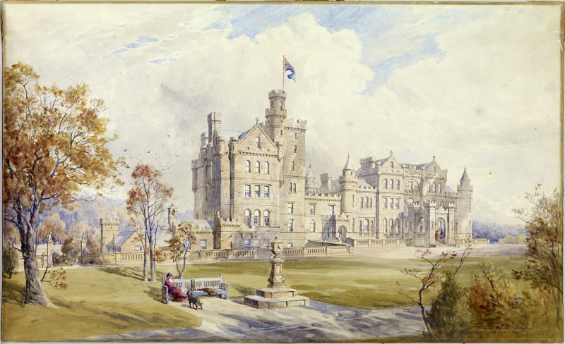 Perspective view of proposed additions to Mauldslie Castle, South Lanarkshire