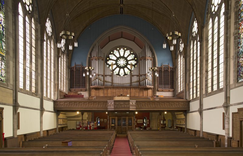 Balcony and organ, view from south east