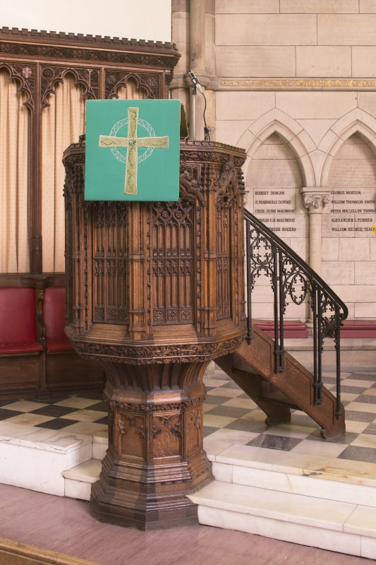 View of pulpit