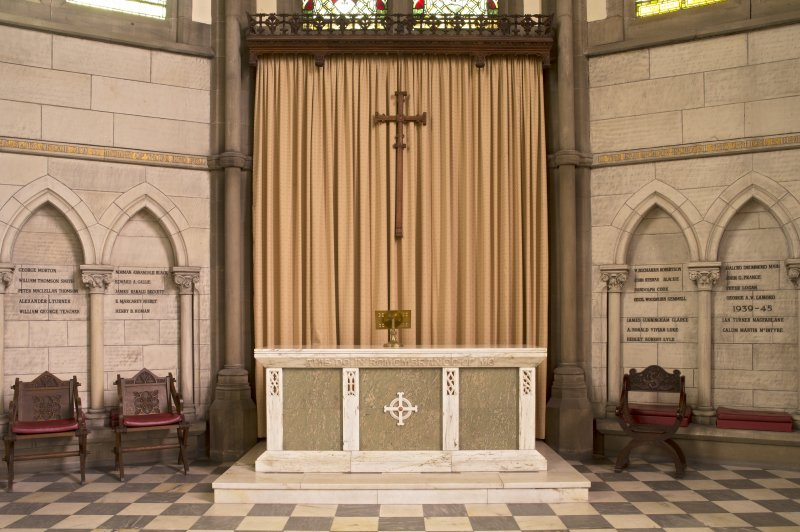 View of communion table  and reredos