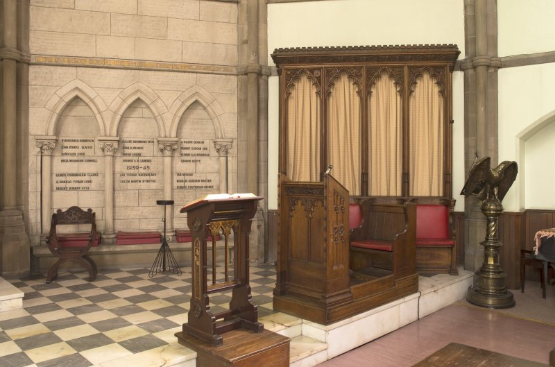 Chancel, general view of lecterns and desk