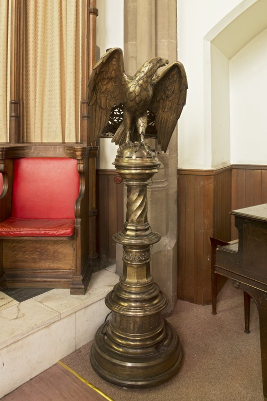 Chancel, view of eagle lectern