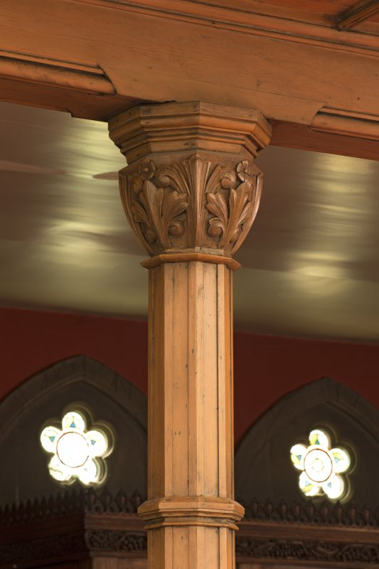 Detail of carved wooden capital